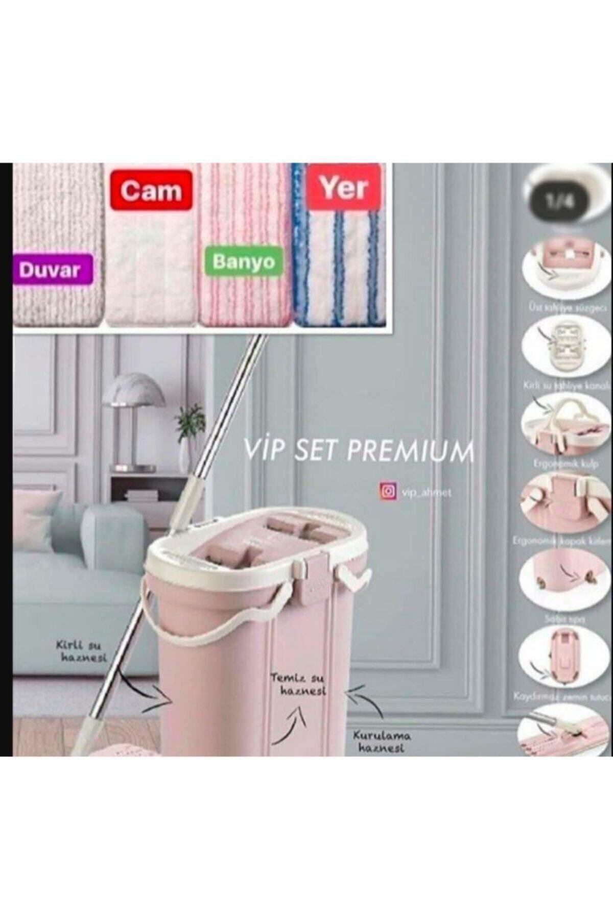 Vip Set Premium Mop Temizlik Seti + 4'lü Yedek Bez