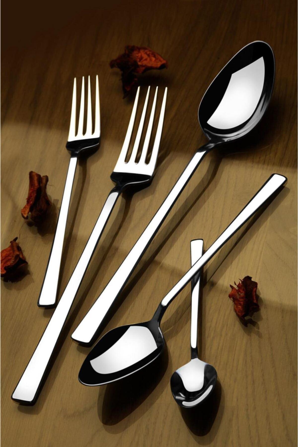 Kitchen Trend 30 Parça 304 Kalite Paslanmaz Çelik Çatal Kaşık Bıçak Takımı