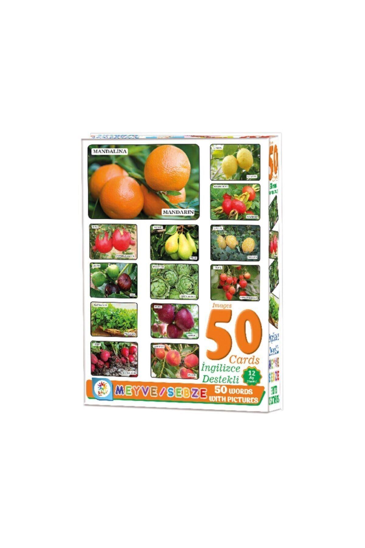 Resimlerle 50 Meyve Sebze Ingilizce Destekli