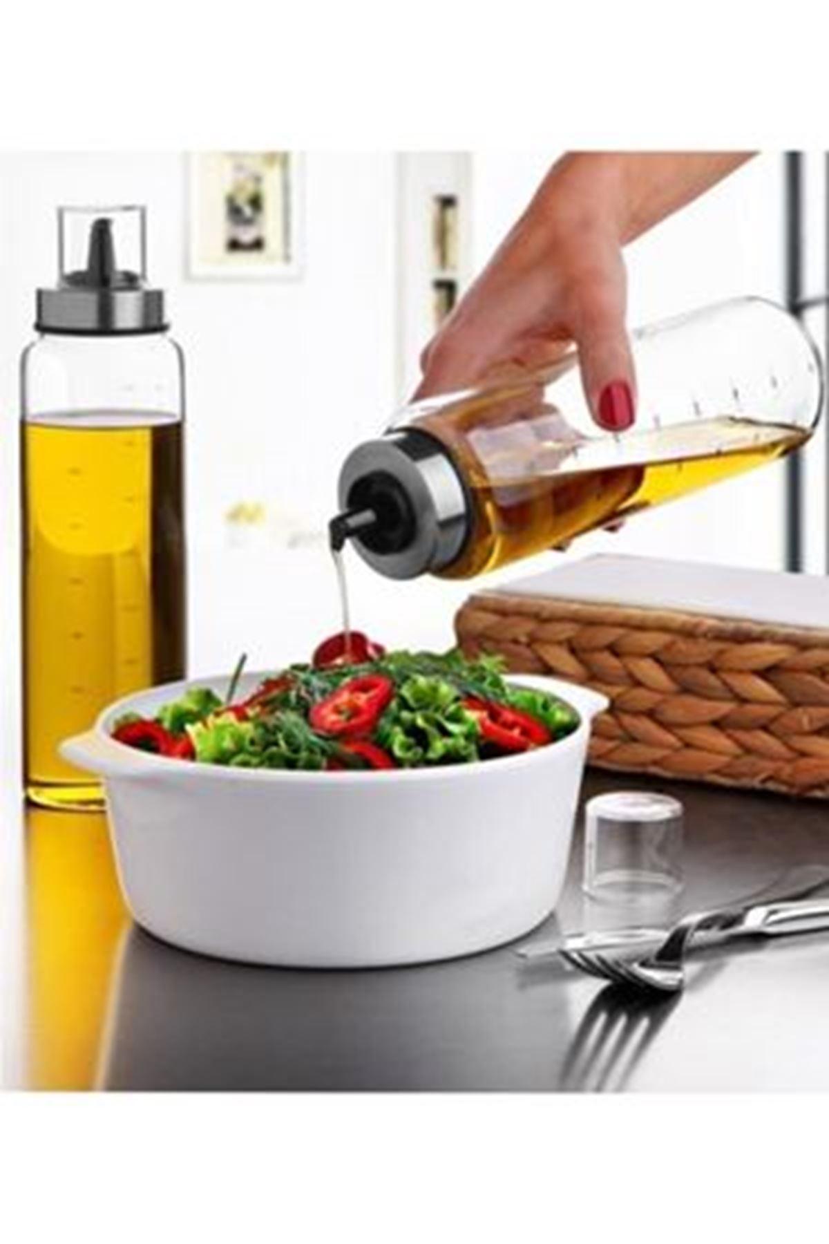 Kitchen Trend 750 Ml 2 Adet Borosilikat Damlatmaz Yağlık Yağdanlık