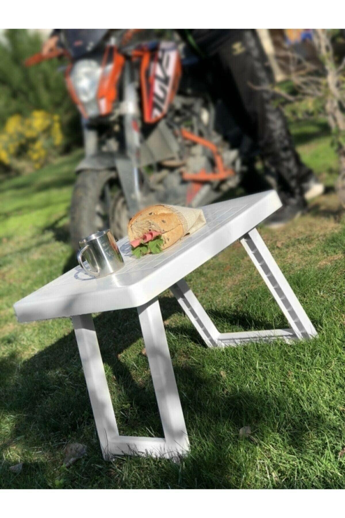 Portatif Katlanabilir Orta Boy Masa Piknik Masası 51x40x40cm